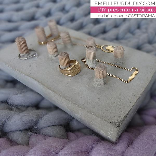 DIY Présentoir à bijoux en béton couché pour mettre dans son dressing