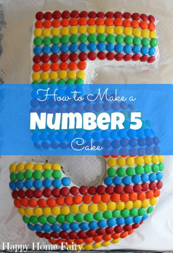 DIY et tutorial pour réaliser un gâteau en forme de 5 pour un anniversaire