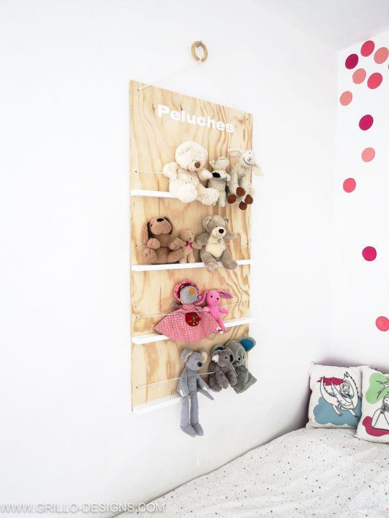 DIY étagère à peluches idéale pour ranger les chambres d'enfants