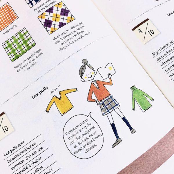 J'ai testé le livre Tout dessiner au jour le jour Tome 2 par Magali THIEBAUD du blog Le Meilleur Du DIY Les vêtements