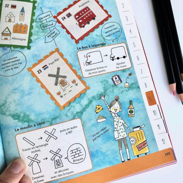 J'ai testé le livre Tout dessiner au jour le jour Tome 2 par Magali THIEBAUD du blog Le Meilleur Du DIY décor de voyage
