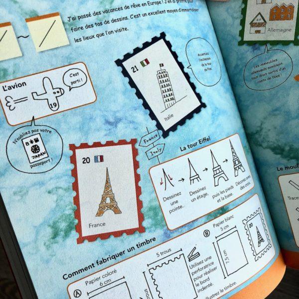 J'ai testé le livre Tout dessiner au jour le jour Tome 2 par Magali THIEBAUD du blog Le Meilleur Du DIY décor de voyage paris