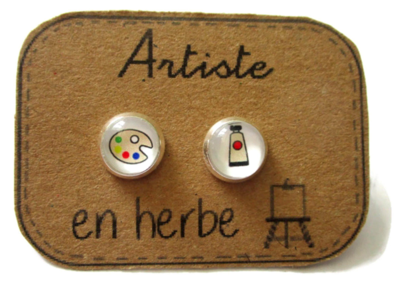 IDEE CADEAU DE NOEL Boucles d'oreilles d'artiste