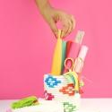 DIY Panier de corde coloré