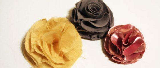 tutorial fleur en tissu