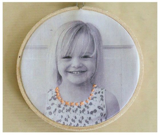 diy portrait photo brodé