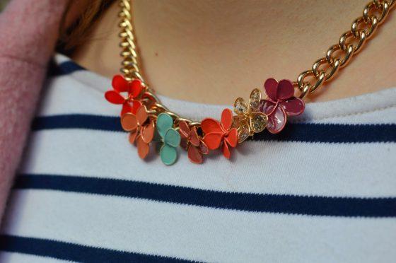 DIY collier de fleurs en vernis à ongles