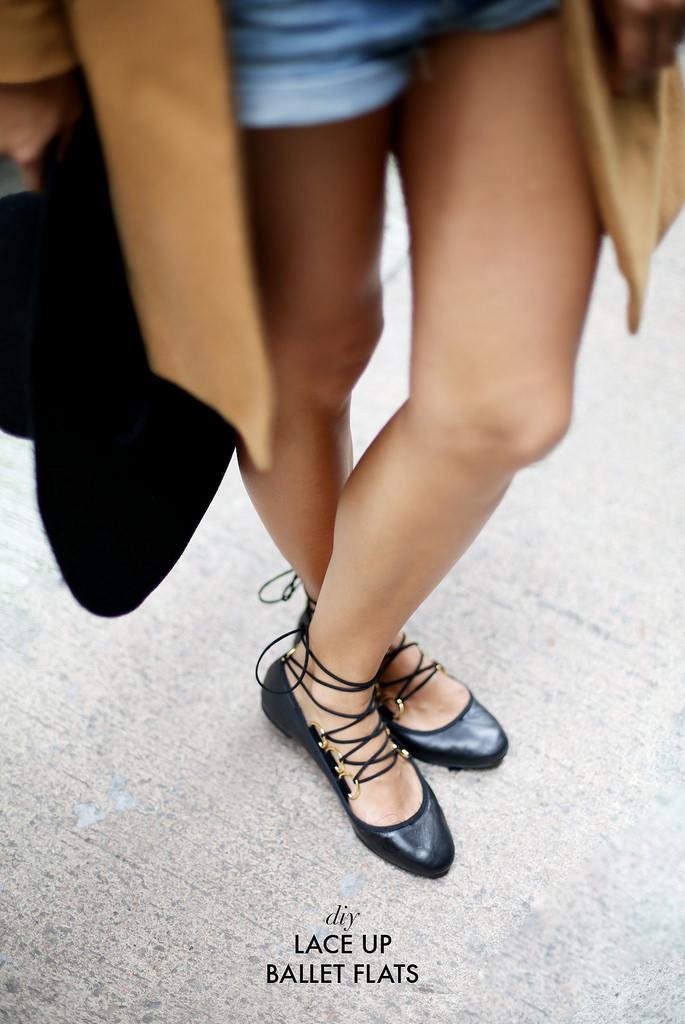 DIY ballerines a lacets