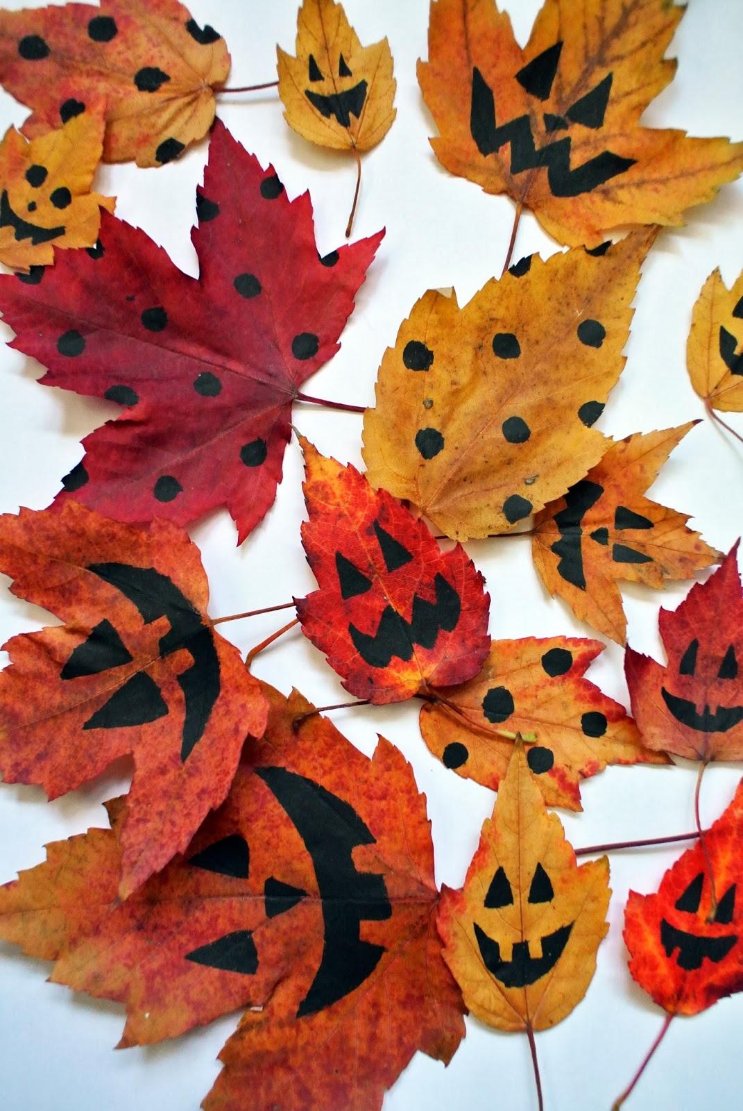 diy les plus belles feuilles d 39 halloween le meilleur du diy. Black Bedroom Furniture Sets. Home Design Ideas