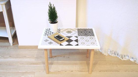 DIY Table carreaux de ciment