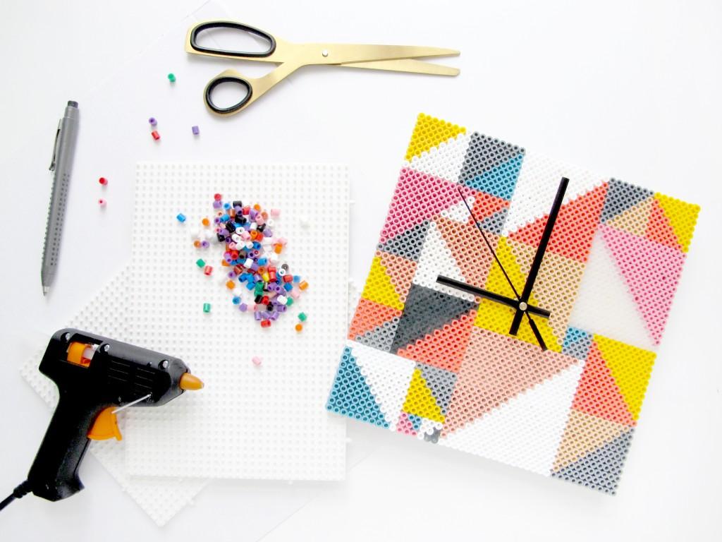 DIY Horloge en perles HAMA