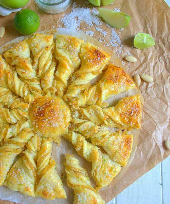 DIY tarte aux pommes en forme de soleil