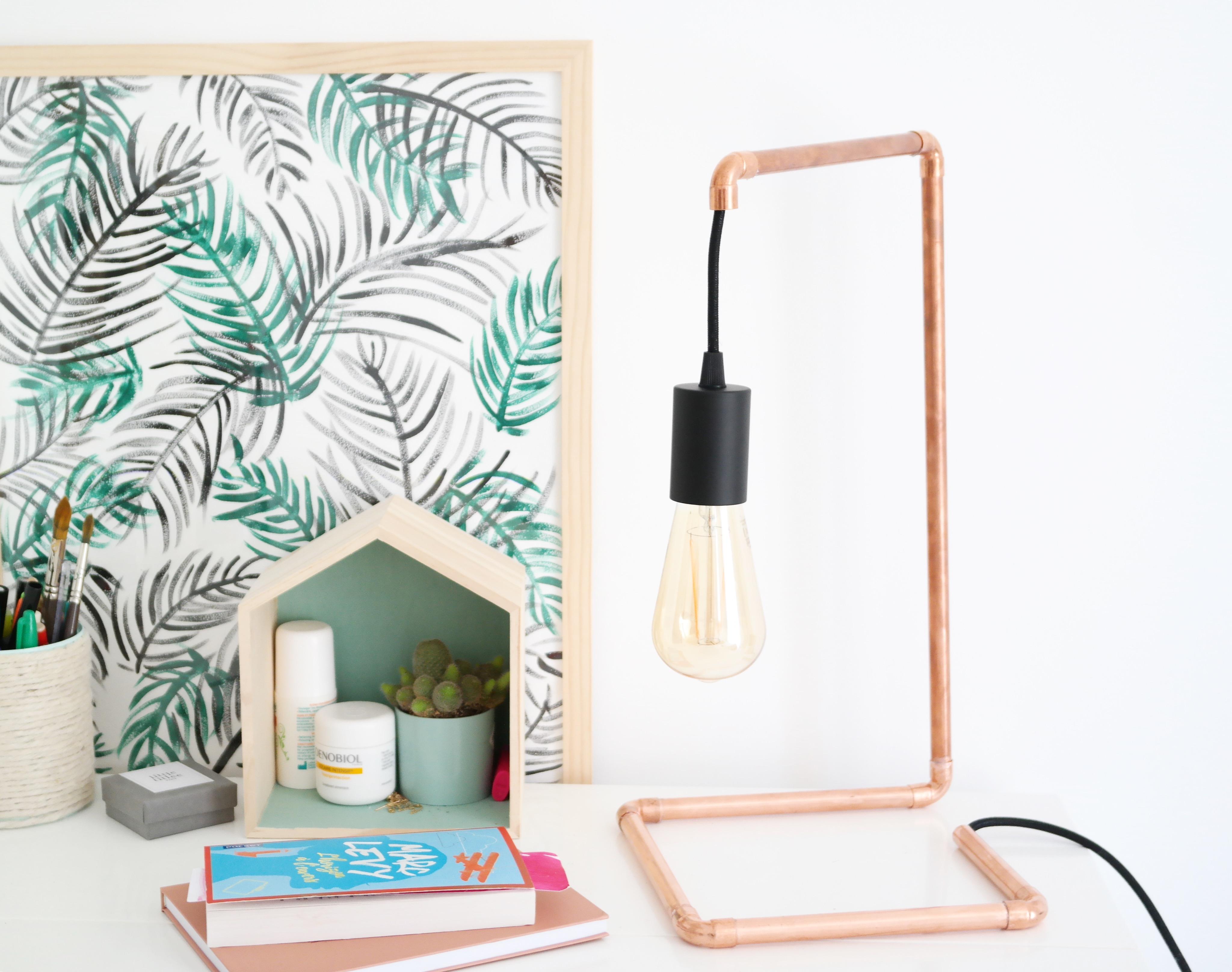 diy lampe en cuivre et bon plan ampoules gratuites le meilleur du diy. Black Bedroom Furniture Sets. Home Design Ideas