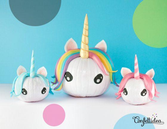licorne citrouille halloween fait maison