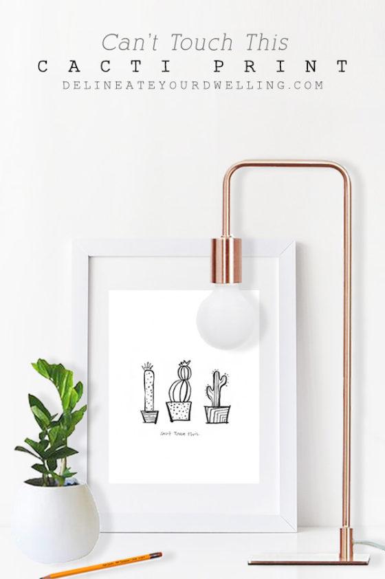 affiche cactus à imprimer soi même