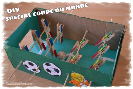 DIY Tuto pour apprendre à fabriquer un babyfoot pour la coupe du monde